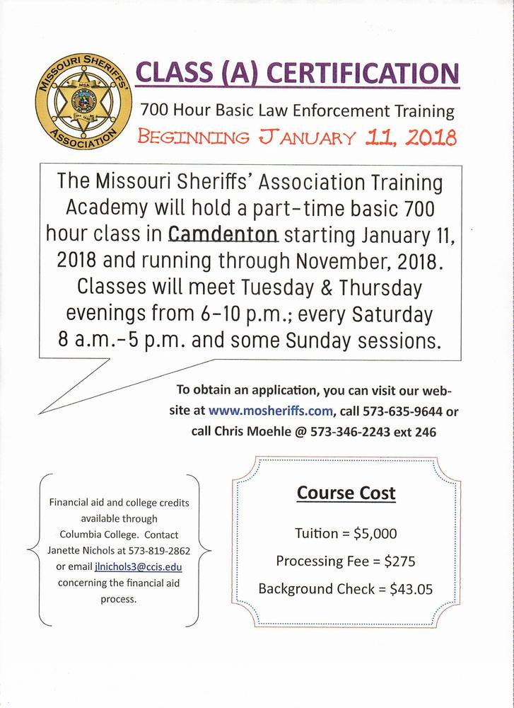 Training Class A Law Enforcement Certification Press Releases